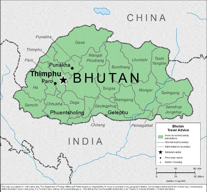 Bản đồ Bhutan