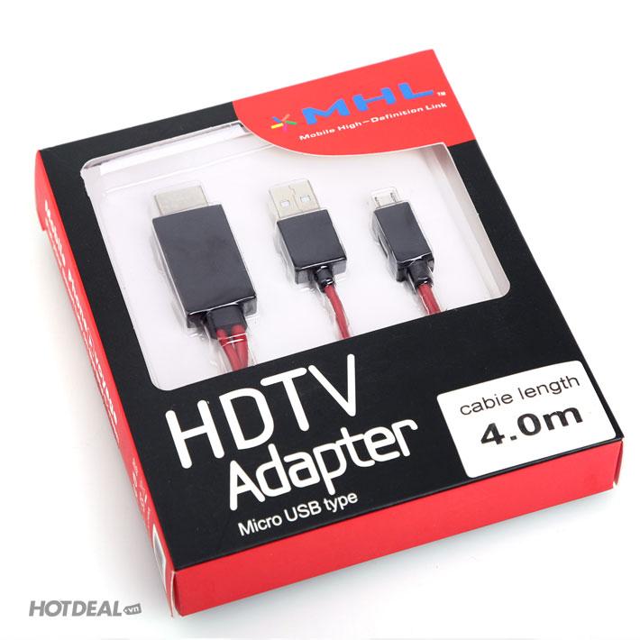 Cáp MHL to AV dùng kết nối điện thoại với TiVi