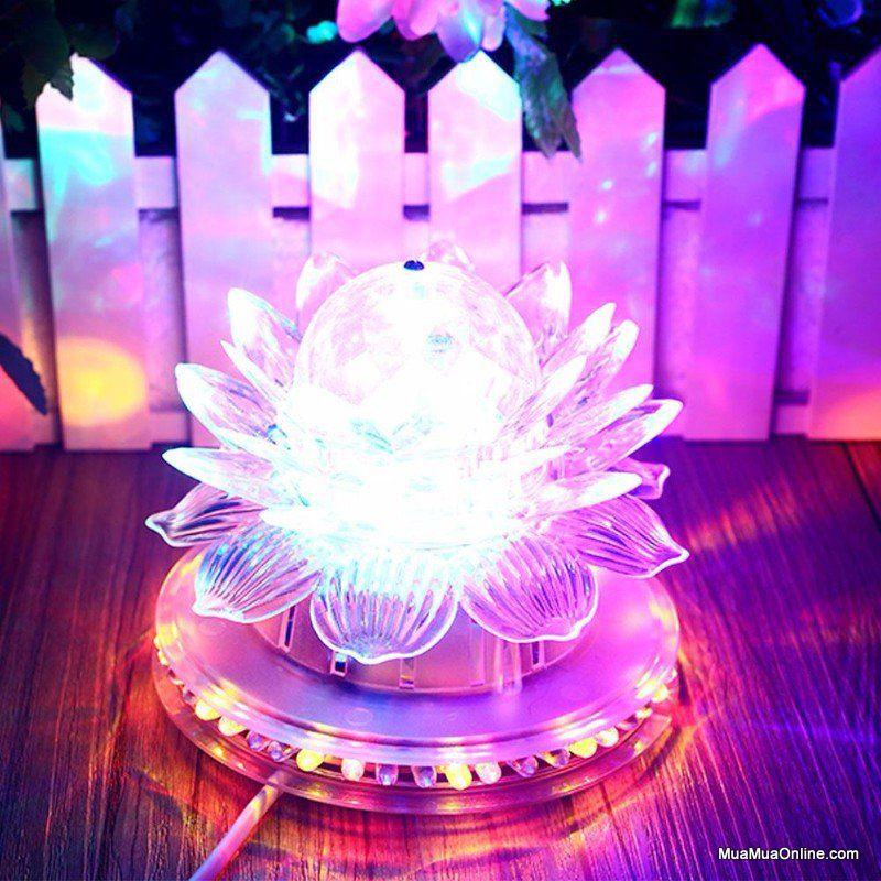 đèn hoa sen thờ cúng