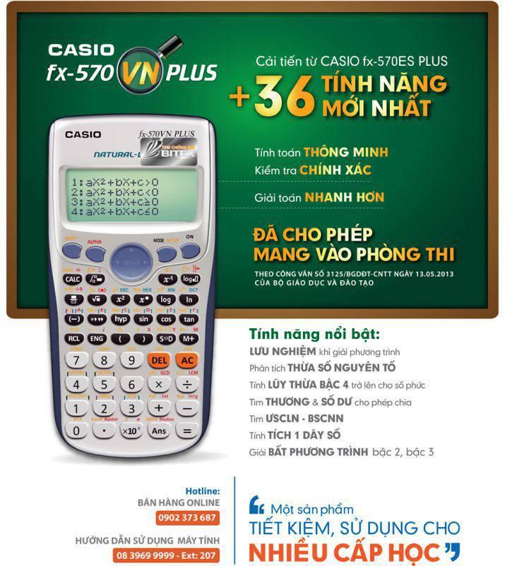 máy tính casio fx 570vn plus