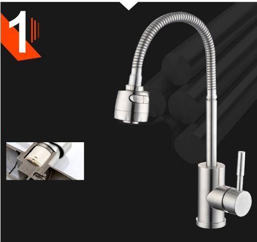 Vòi nước rửa chén cao cấp lò xo