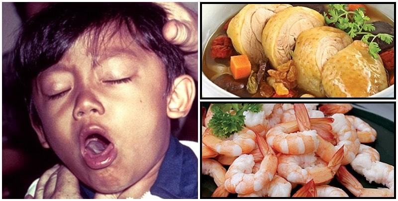 Kiêng ăn cua gà khi trẻ dưới 2 tháng tuổi bị ho