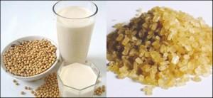 Sữa đậu nành với đường đen