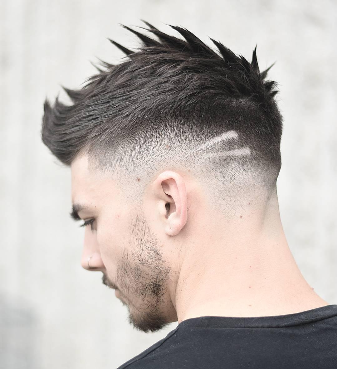 Những kiểu kẻ vạch tóc nam đẹp