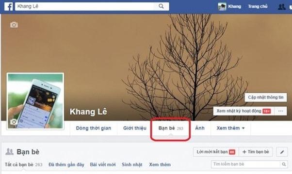 Theo dõi người khác trên facebook họ có biết không?