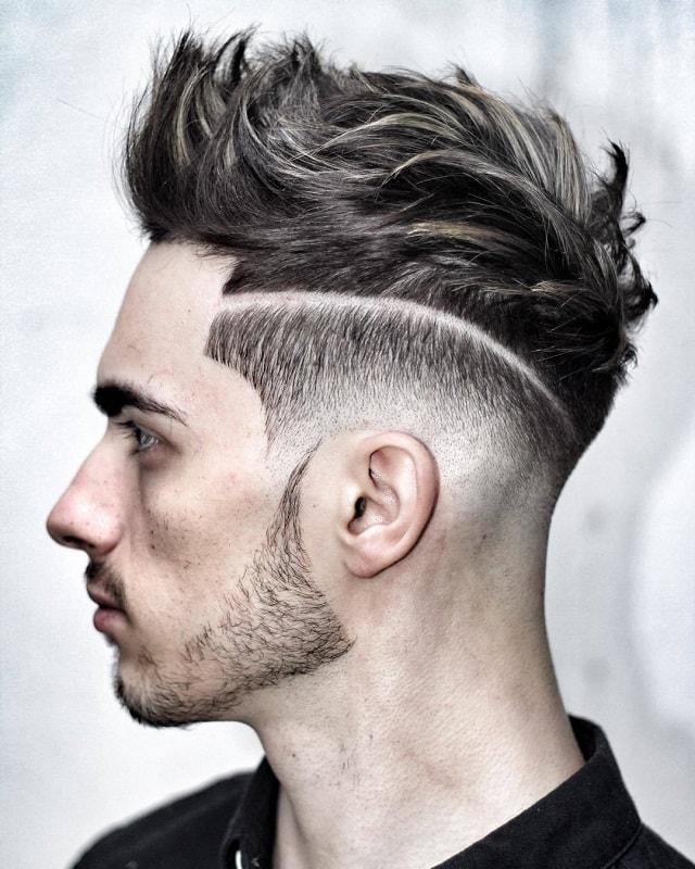 tóc nam cạo 2 bên và gáy để đỉnh đầu