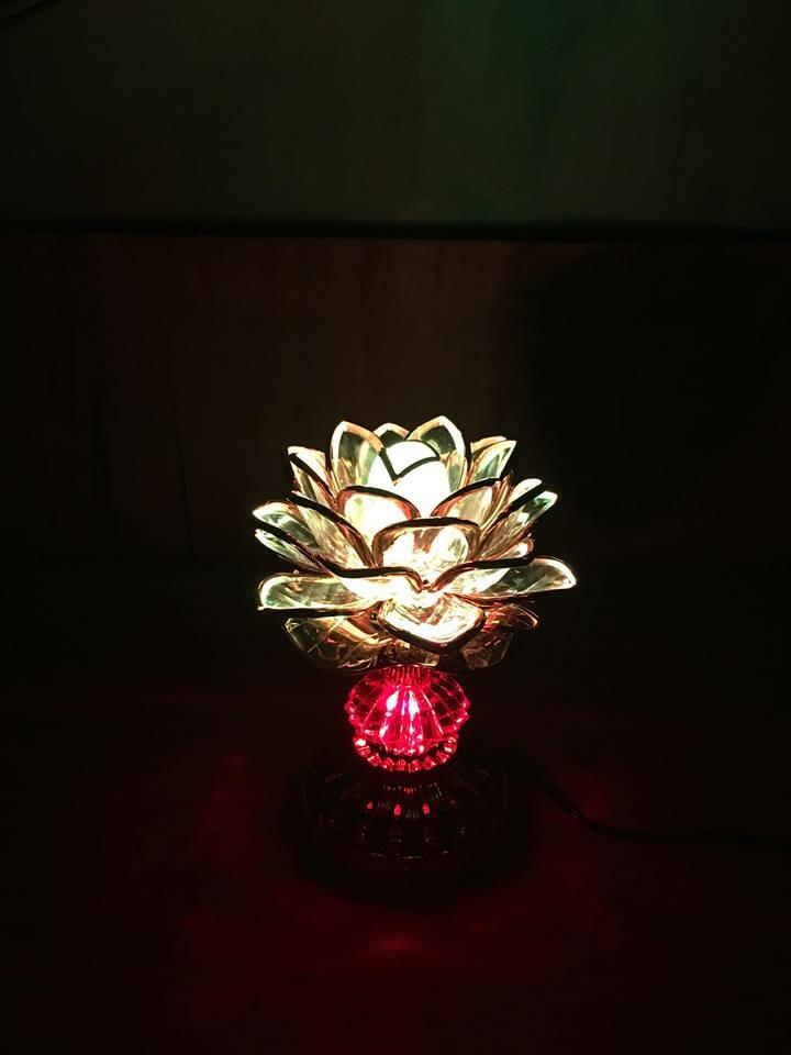 Đèn thờ hoa sen đổi màu