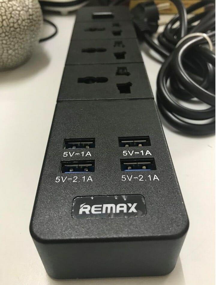 ổ cắm thông minh chất lượng remax B-T08 4usb 3 socket