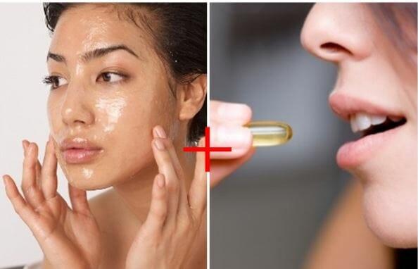 Trước và sau khi sử dụng vitamin e
