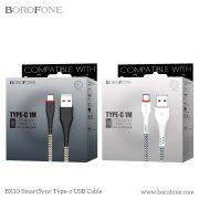 Dây cáp smart phone borofone bx10 type C
