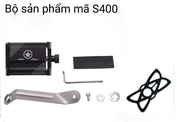 Kẹp điện thoại xe máy garbber S400