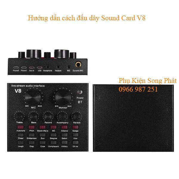 Sound Card Livestream Chính Hãng V8