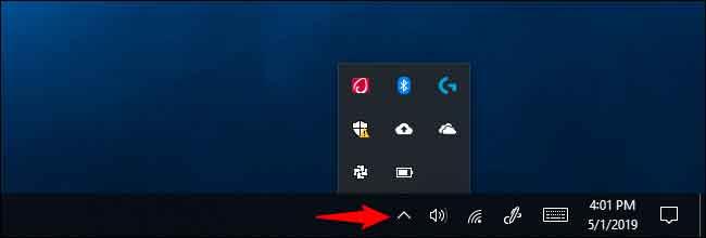 Mất biểu tượng pin trên taskbar win 10