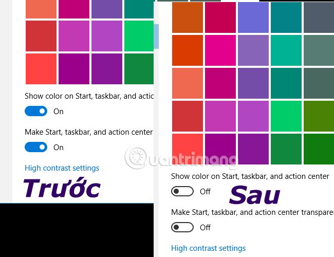 Tắt hiệu ứng đồ họa trong windows 10