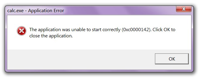 lỗi the application was unable to start correctly 0xc0000142