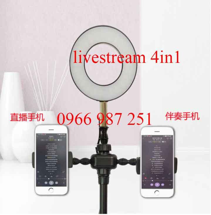 Bộ đèn livestream 4 in 1