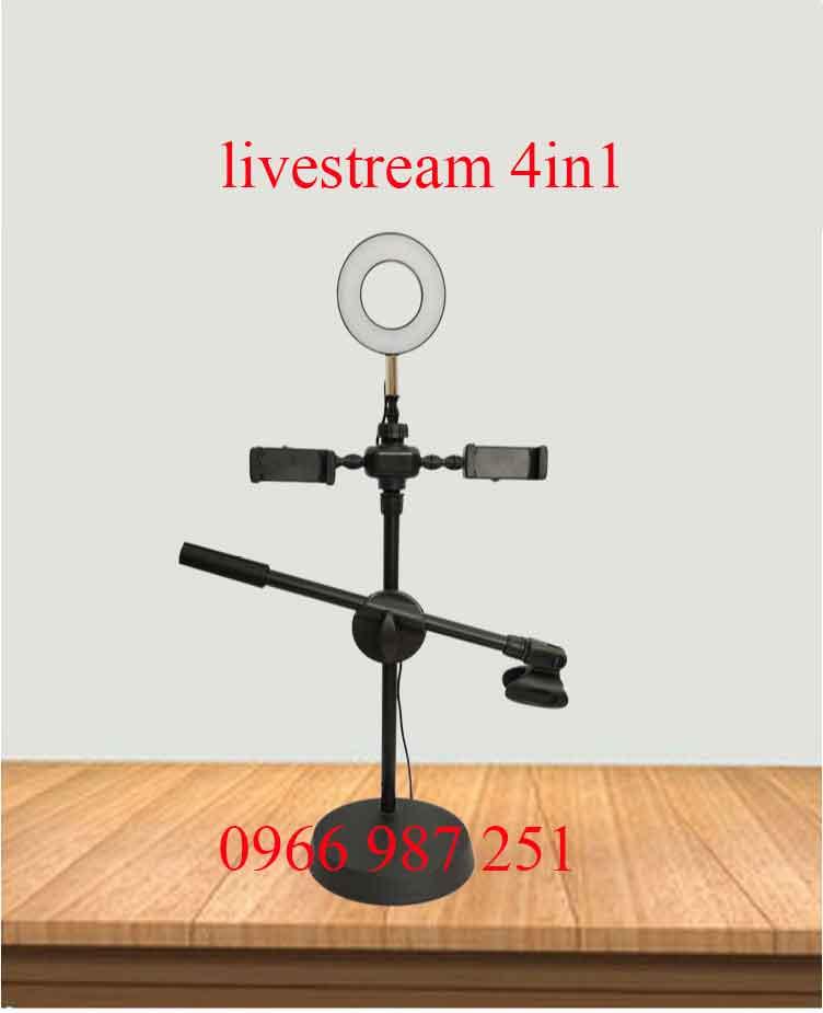 Cây livestream có đèn 4 in 1