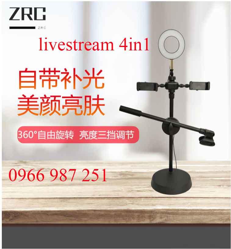 Chân đế livestream có đèn 4 in 1