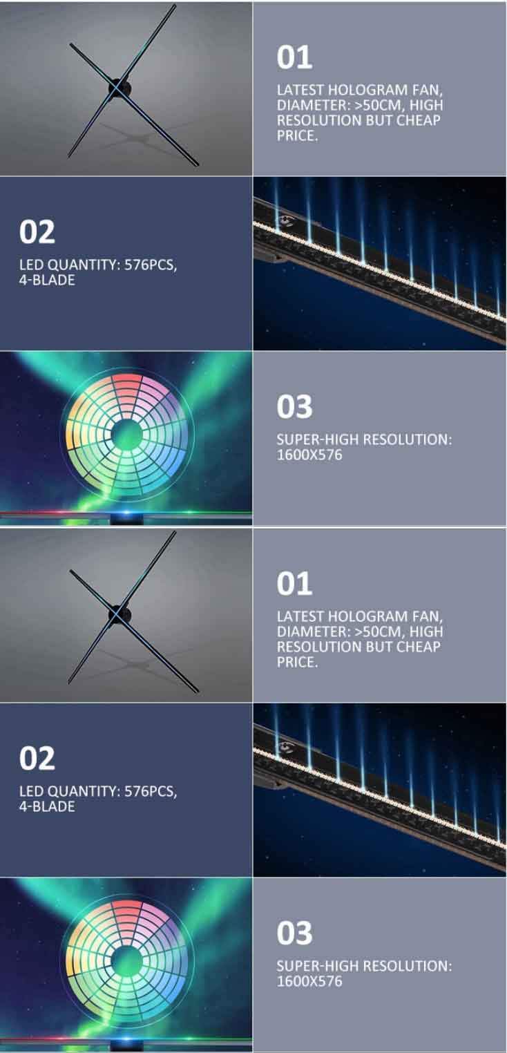 3D LED Fan Halogram Z7