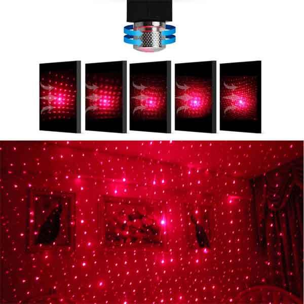 Đèn laser usb chiếu phòng ngủ