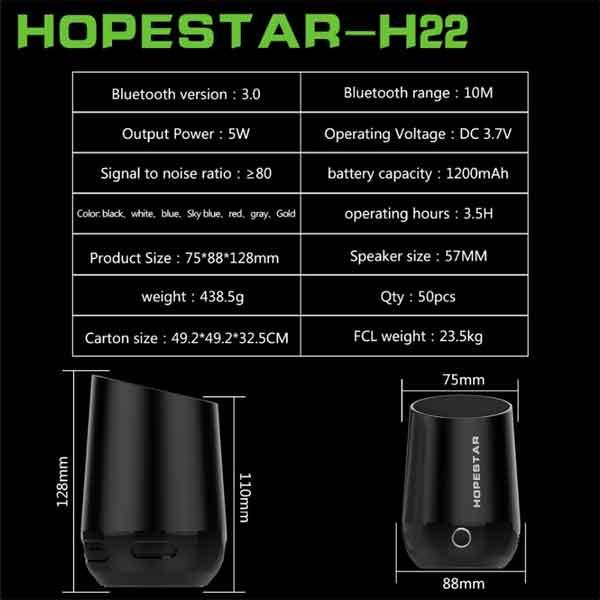 Thông số kỹ thuật HopeStar H22