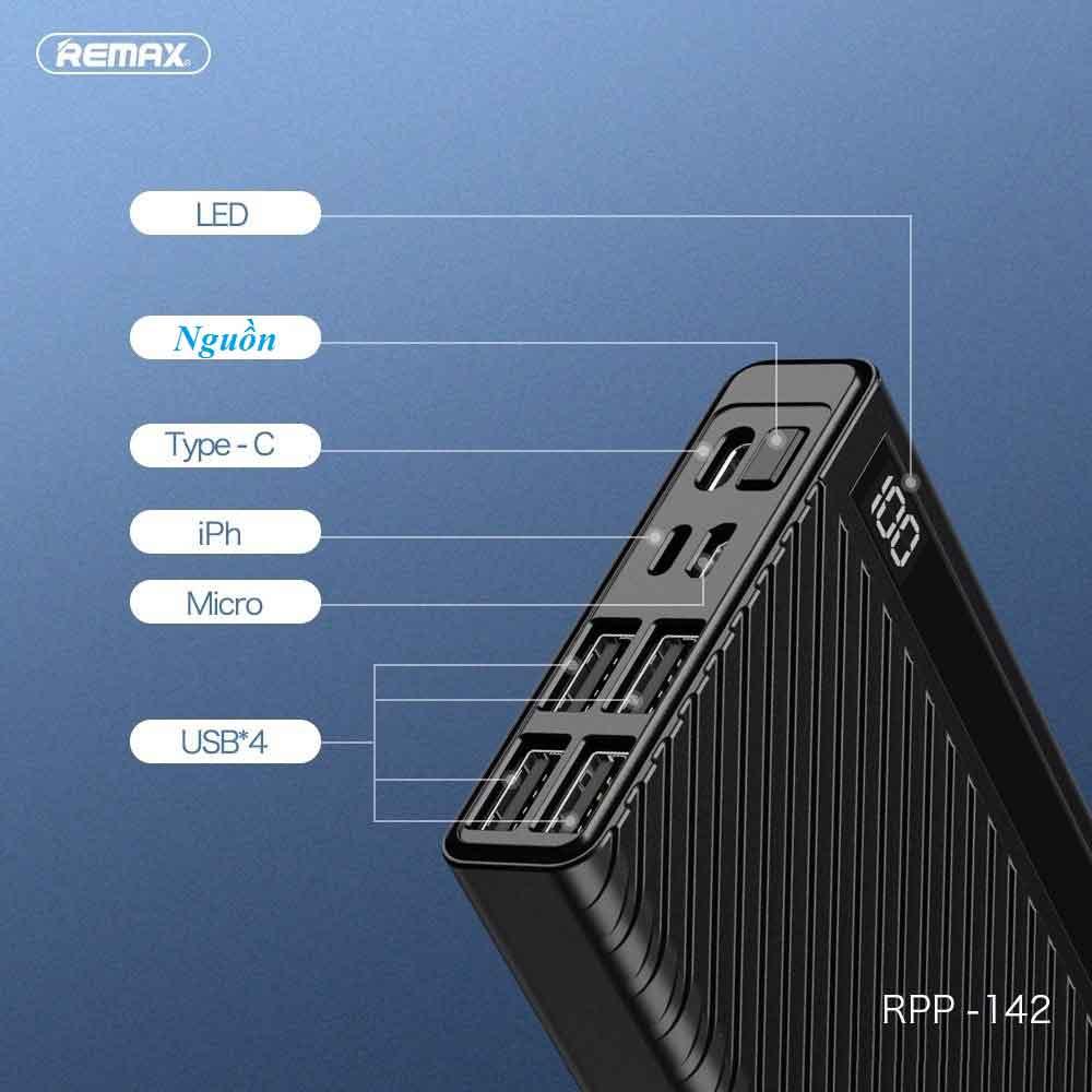 Pin dự phòng Remax 20000mAh RPP-142