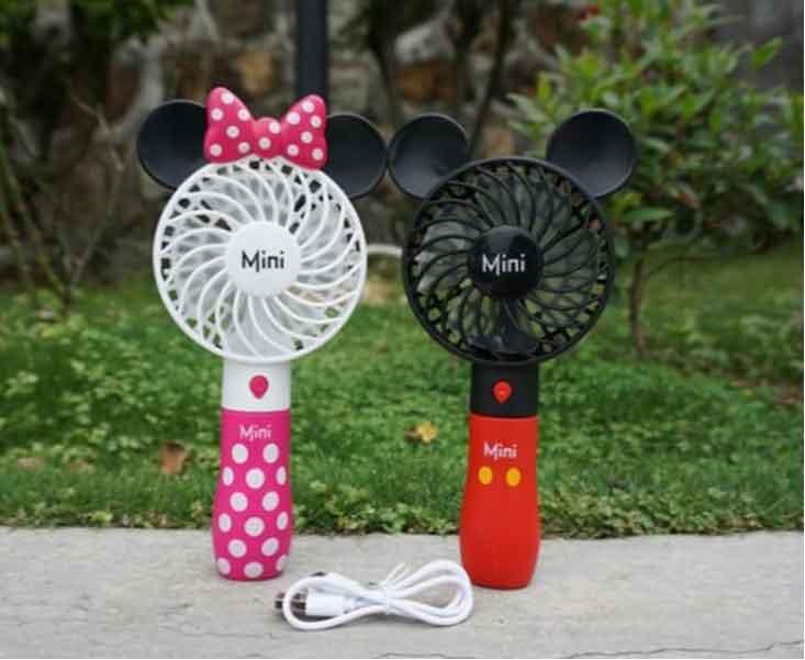 Quạt sạc mini cầm tay Mickey