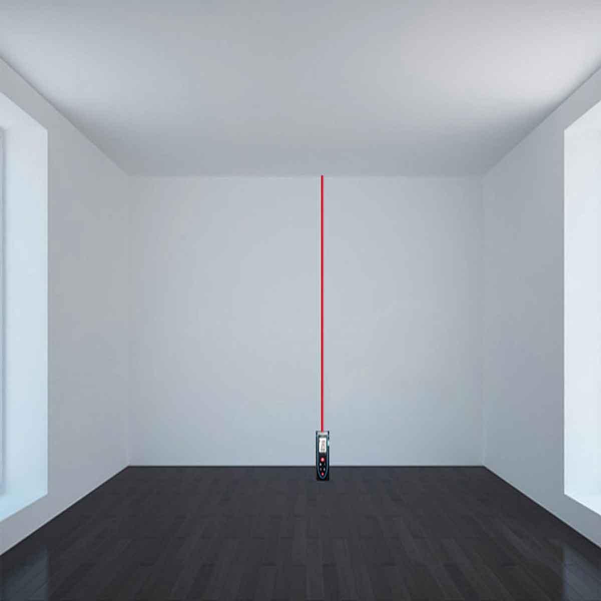 Đo chiều cao bằng thước laser
