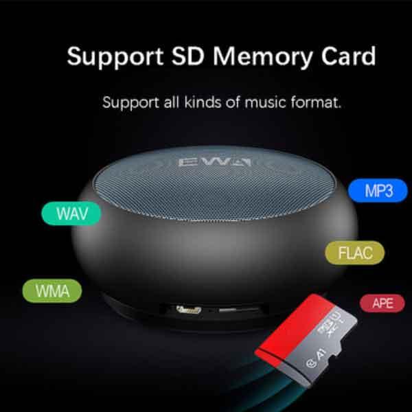 Loa mini EWA A110 hỗ trợ nhiều định dạng nghe nhạc