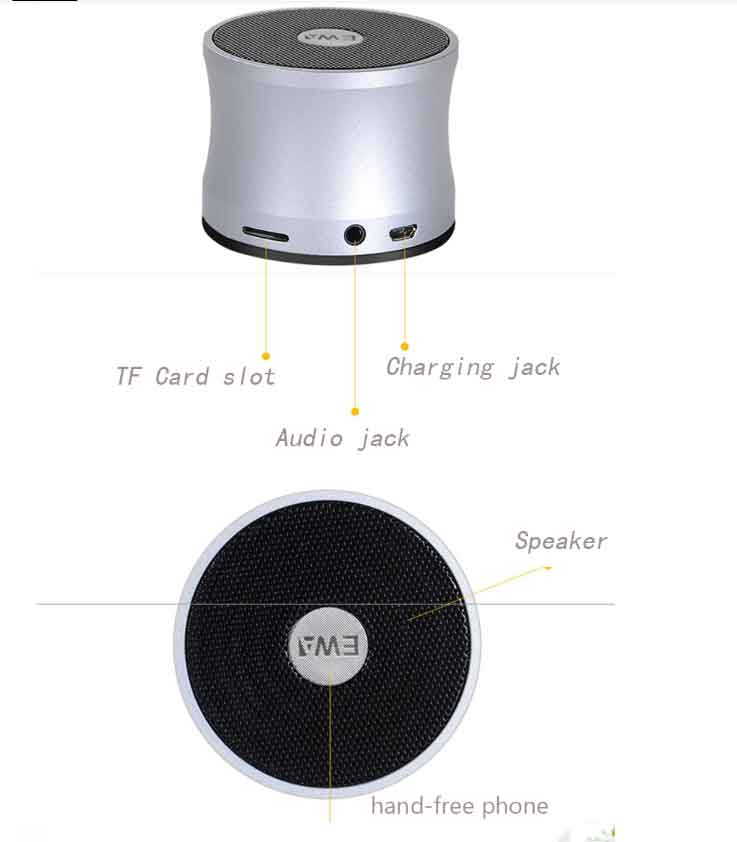Loa Bluetooth Mini Sieu nho EWA A109