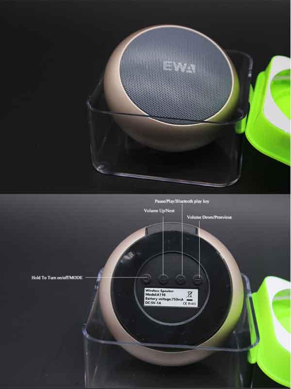 Nút điều khiển loa EWA A110 đơn giản sử dụng