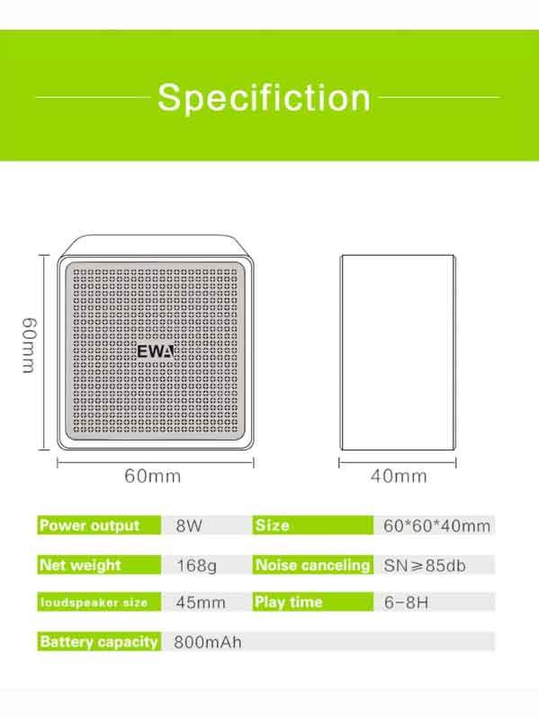 Thông số kỹ thuật EWA A105
