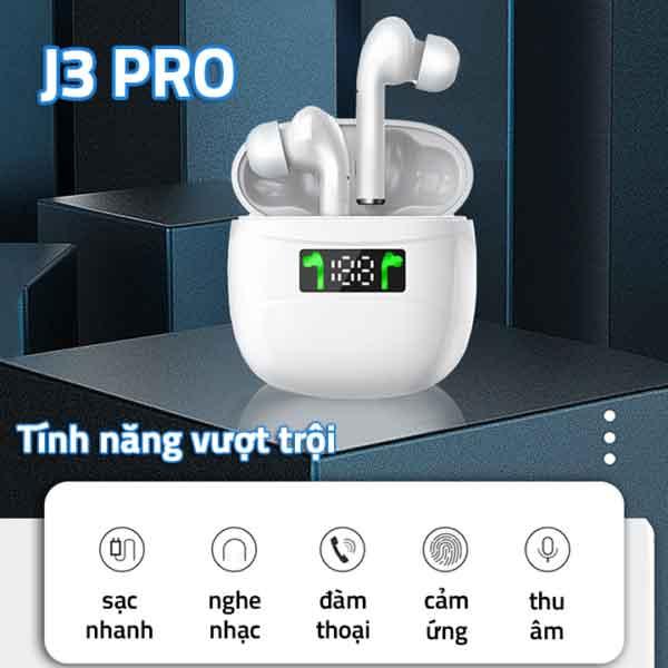 Chức năng tai nghe Bluetooth J3 Pro TWS