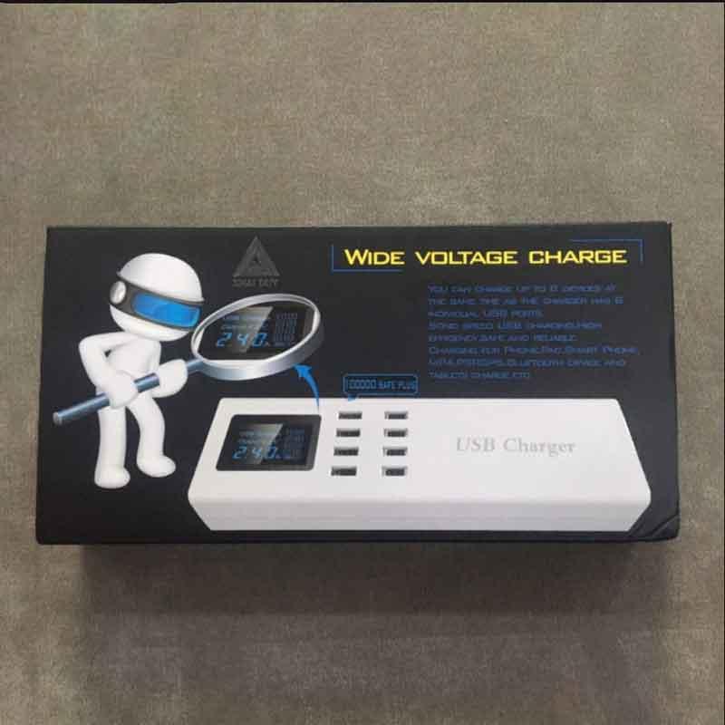 Nguồn sạc điện thoại 8 Cổng USB YC-CDA23 Chính Hãng