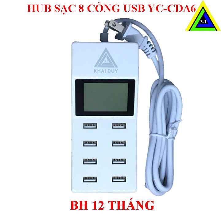 Hub sạc 8 cổng USB CDA6