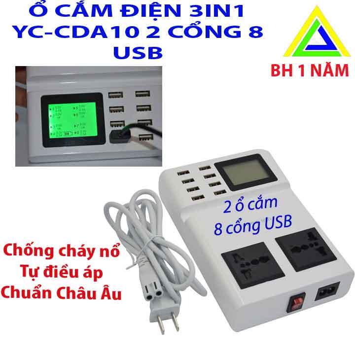ổ cắm sạc điện thoại 8 cổng usb CDA10