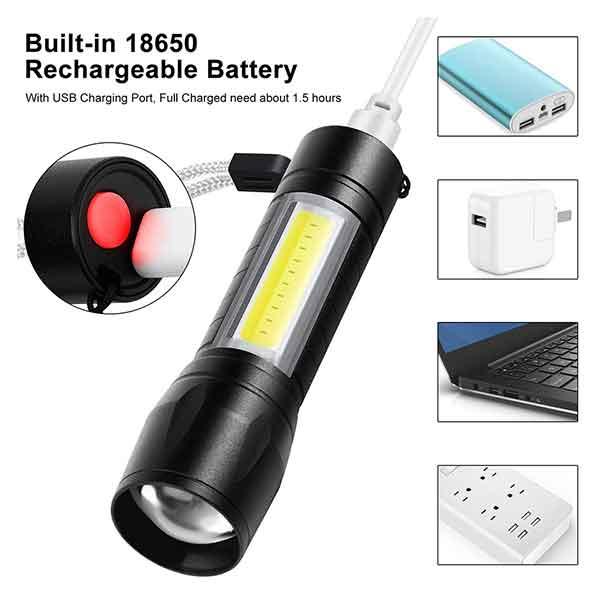 đèn pin mini sạc