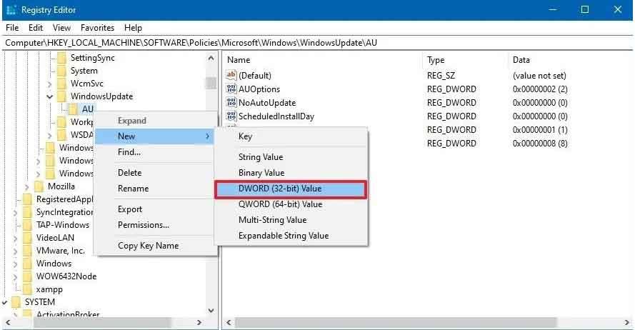 Register Editor input String key