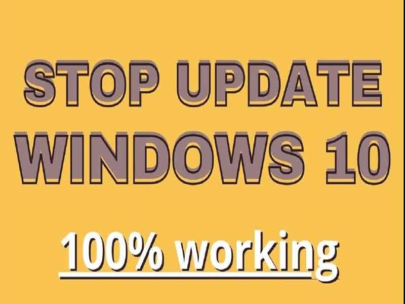 Tắt windows update trong win10