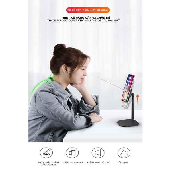 Giá đỡ điện thoại hợp kim nhôm