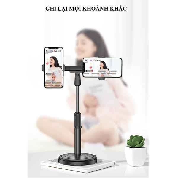 Chân giá đỡ 2 điện thoại để bàn