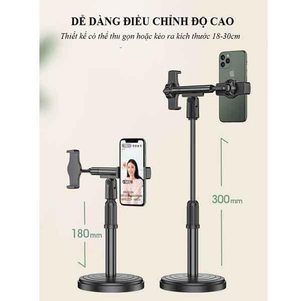 Giá chân 2 điện thoại để bàn mini