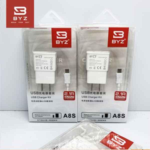Bộ cóc cáp sạc Micro usb BYZ A8S