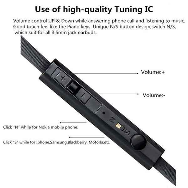 Nút điều chỉnh âm lượng tai nghe BYZ S389