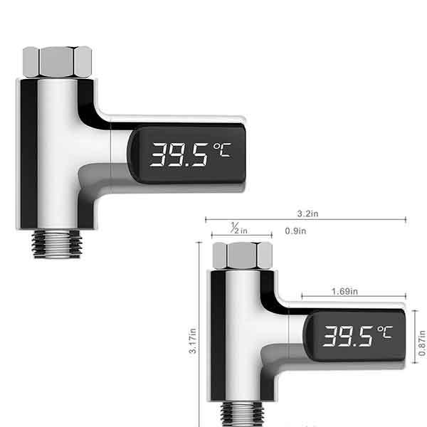 Thông số kích thước nhiệt kế vòi tắm sen