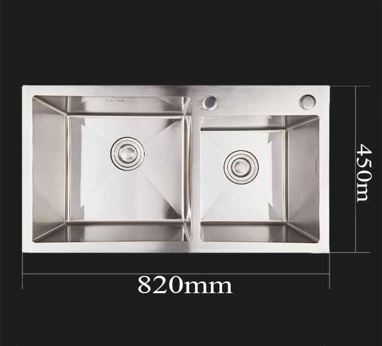 Kích thước bồn rửa chén 2 ngăn C-8245