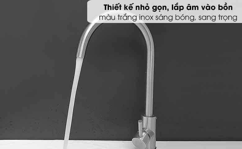 Vòi rửa inox chén nóng lạnh L-404